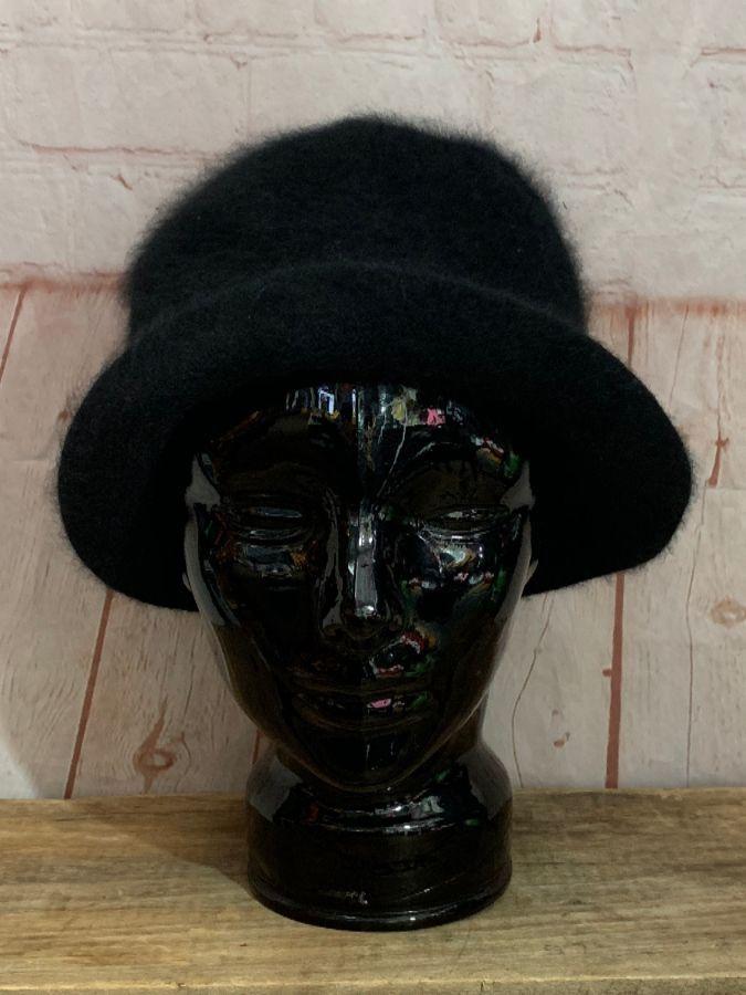 VINTAGE THE SCALA COLLECTION SOFT FUZZY BOWLER HAT » Boardwalk Vintage cc39e11179ee