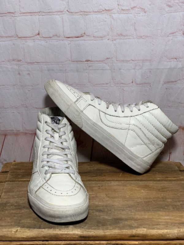 SUPER SOFT LEATHER VAN'S HIGH TOPS