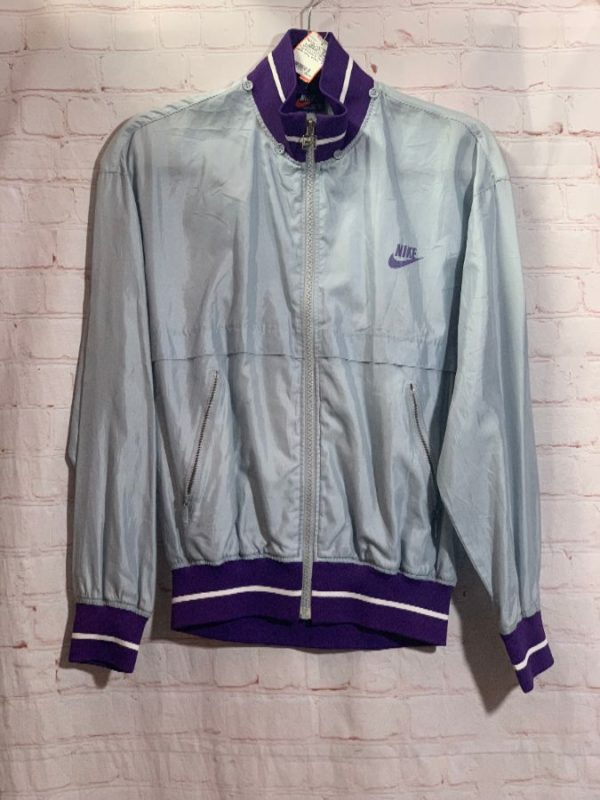 RETRO JAPANESE NIKE ZIP UP WINDBREAKER WITH LOGO Blue Tag Exclusive Japan