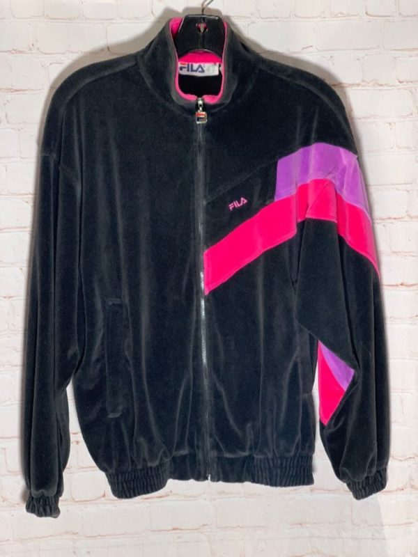 RETRO VELOUR ZIP-UP FILA TRACK JACKET