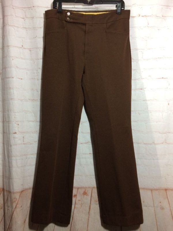 TROUSERS POLYESTER SOLID COLOR W/ 2 BUTTON CLOSURE