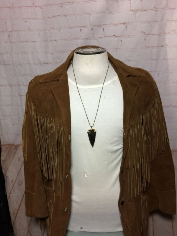 1970S HEAVY SUEDE FRINGE COAT Small Fit!!!