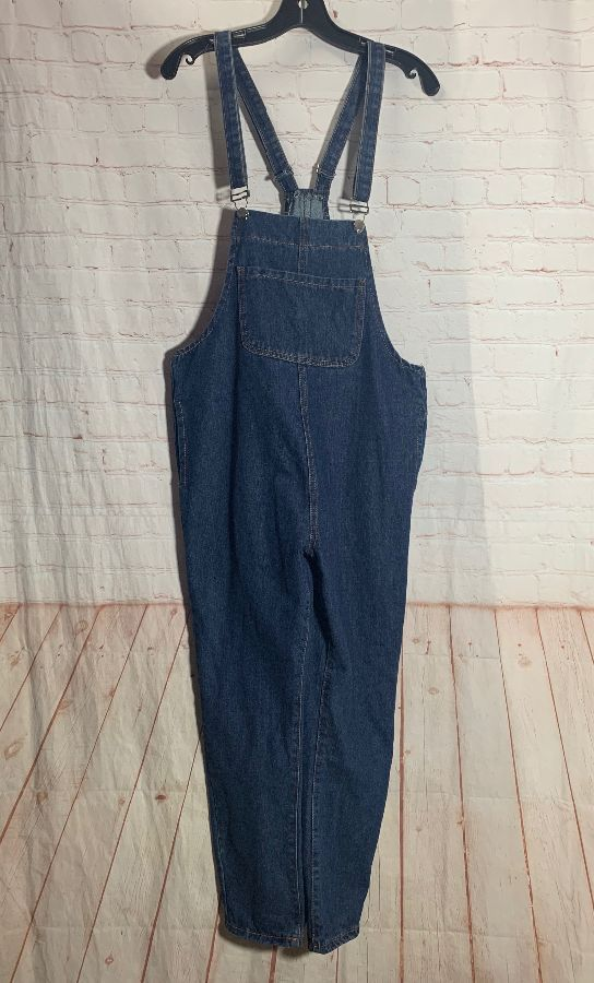 product details: 1990'S DENIM BIB OVERALLS W/ POCKETS SUPER RETRO photo