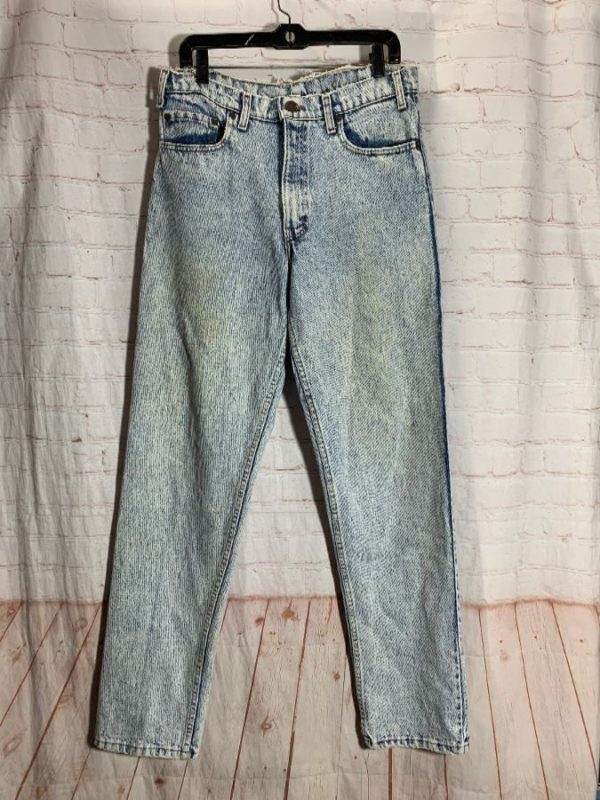 LEVIS 540 DENIM JEANS ACID WASHED & LONGER CUT