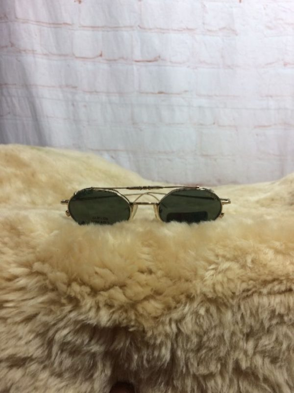 Glasses Frames with Snap/Magnet Sunglasses Attachment