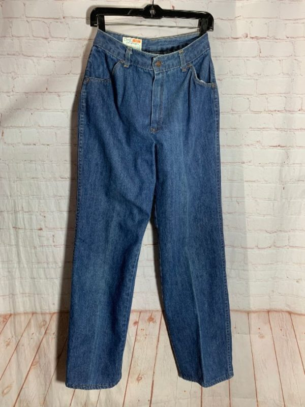 RETRO SEARS HIGH WAISTED STRAIGHT LEG DENIM JEANS