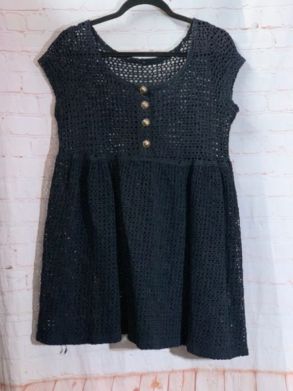 product details: 1990'S CROCHET STYLE MESH BABY DOLL DRESS photo
