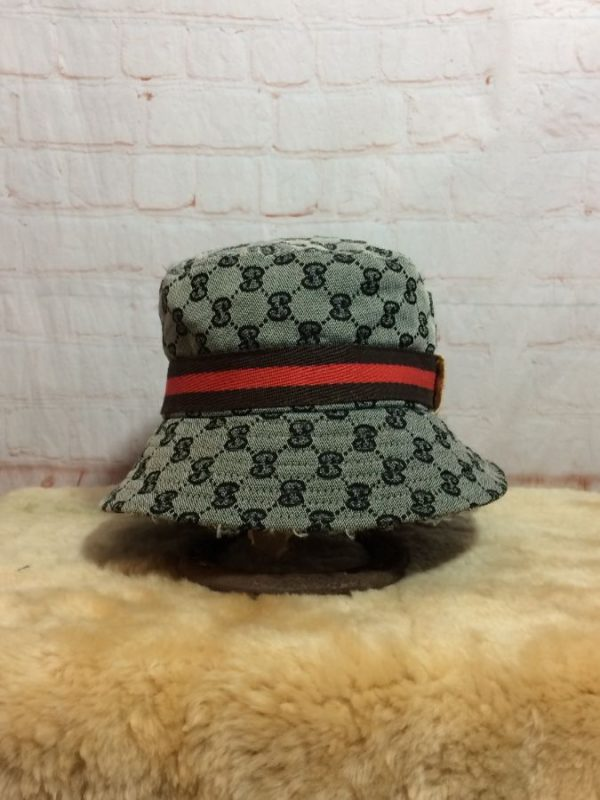 BOOTLEG GUCCI MONOGRAM ALL OVER PRINT BUCKET HAT