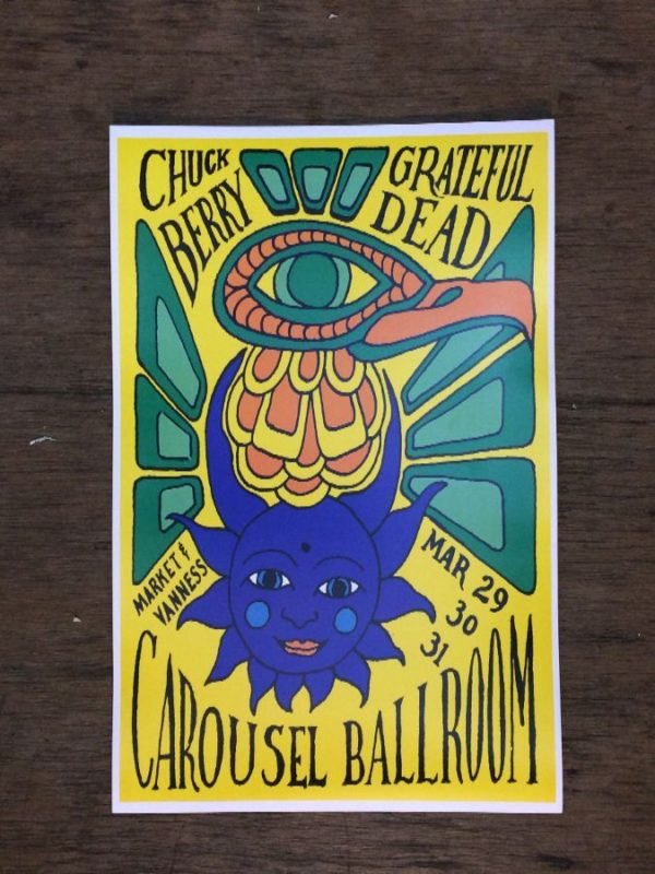 product details: CHUCK BERRY AND GRATEFUL DEAD AT THE CAROUSEL BALLROOM CONCERT POSTER photo