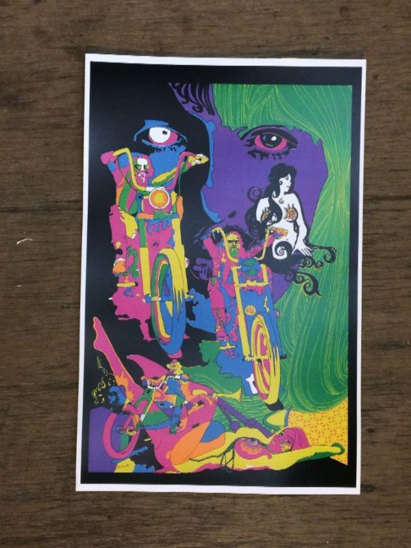 product details: PSYCHEDELIC MOTORCYCLE 70S POSTER photo