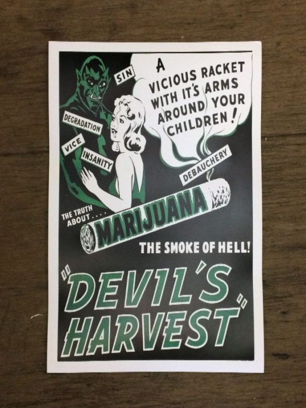 product details: MARIJUANA DEVILS HARVEST PROPAGANDA POSTER photo
