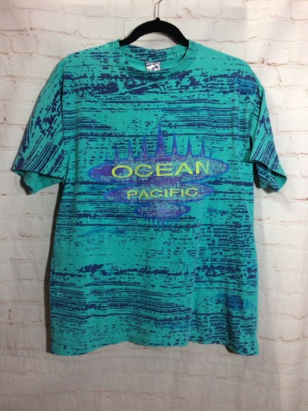 1990'S OP SAVED BY THE BELL 2-TONED STATIC GRAPHIC T-SHIRT