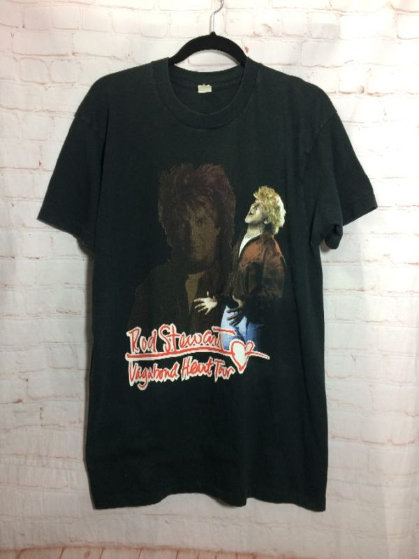 T-SHIRT ROD STEWART VAGABOND HEART TOUR 1991 SINGLE STITCH