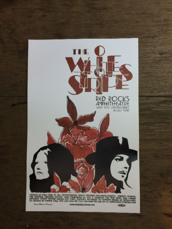 product details: THE WHITE STRIPES AT RED ROCKS CONCERT POSTER photo