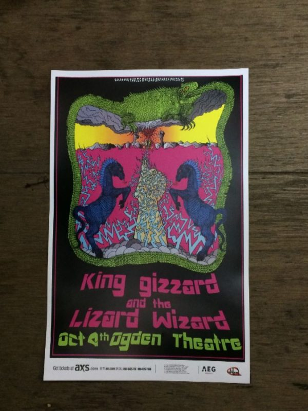 product details: KING GIZZARD AND THE LIZARD CONCERT POSTER photo