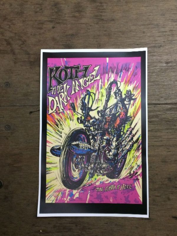 product details: KOTH THE DARK ANGEL - THE EARTH IS HELL MOTORCYCLE POSTER photo