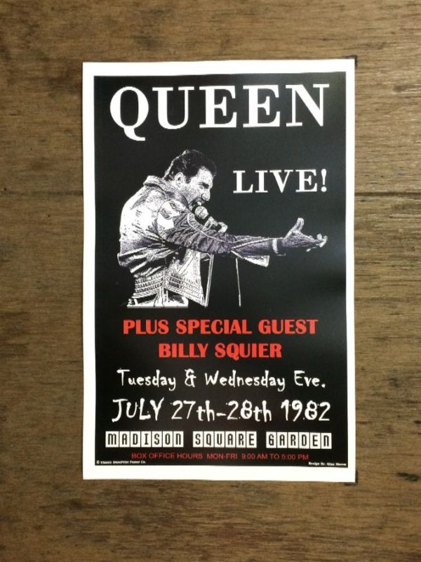 product details: QUEEN LIVE AT MADISON SQUARE GARDEN CONCERT POSTER photo