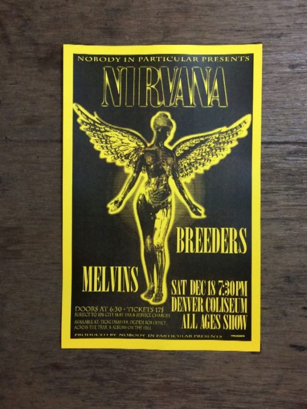 product details: NIRVANA AT DENVER COLISEUM  WITH THE BREEDERS MELVINS CONCERT POSTER photo