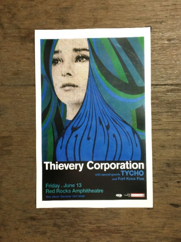 product details: THIEVERY CORPORATION AT RED ROCKS THEATER WITH TYCHO FORT KNOX FIVE CONCERT POSTER photo
