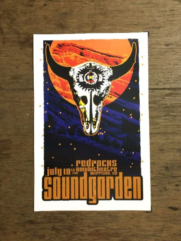 product details: SOUNDGARDEN AT RED ROCKS AMPHITHEATER MORRISON CO CONCERT POSTER photo