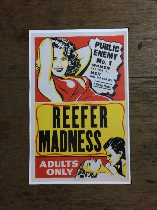 product details: REEFER MADNESS MARIJUANA PROPAGANDA ADULTS ONLY POSTER photo