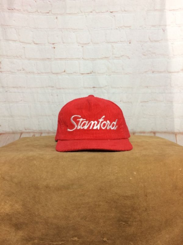 VINTAGE STANFORD ADJUSTABLE CORDUROY CAP HAT