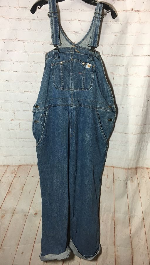CARHARTT DENIM SUPER SOFT OVERALLS