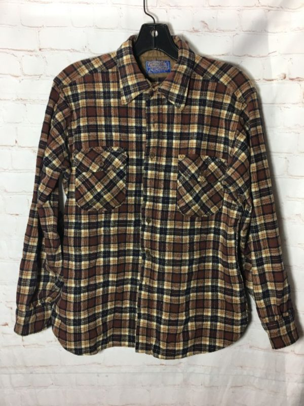 PENDLETON WOOL FLANNEL SHIRT W/ PLAID DESIGN