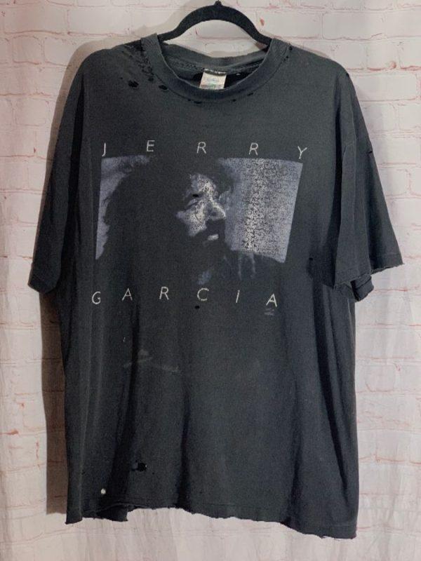 VINTAGE 1990'S DISTRESSED JERRY GARCIA GRATEFUL DEAD T-SHIRT