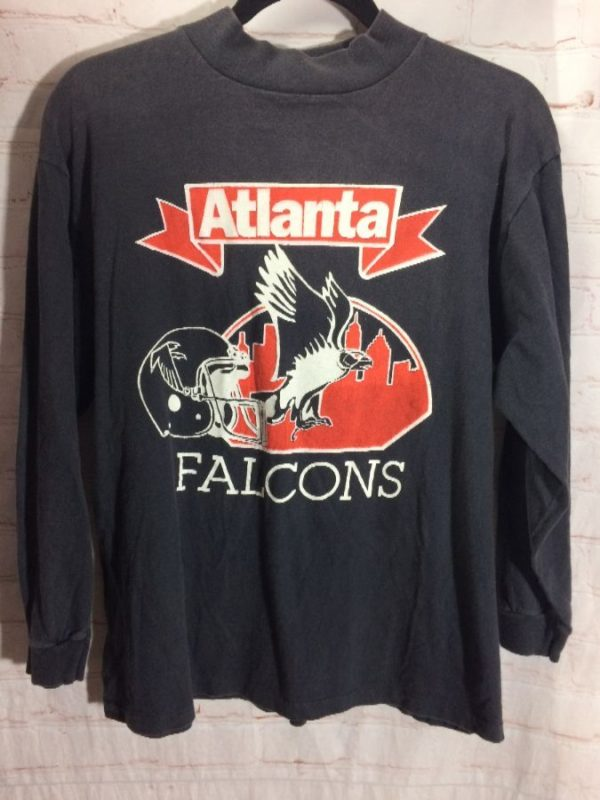 RETRO NFL ATLANTA FALCONS MOCK TURTLE NECK SHIRT
