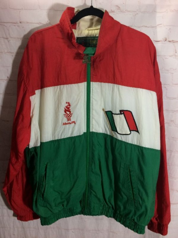 product details: 1996 ATLANTA OLYMPICS ITALY STARTER WINDBREAKER JACKET photo