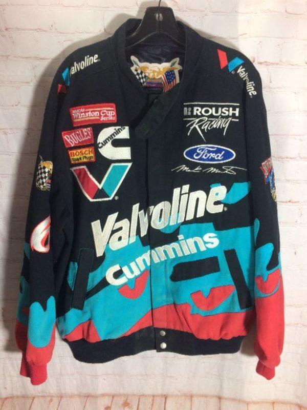 MARK MARTIN #6 VALVOLINE NASCAR RACING JACKET BY JEFF HAMILTON