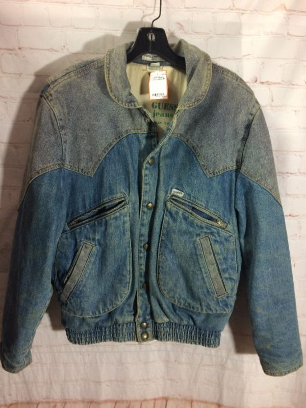 GUESS DENIM JACKET 2 TONED w/ LINING AS-IS