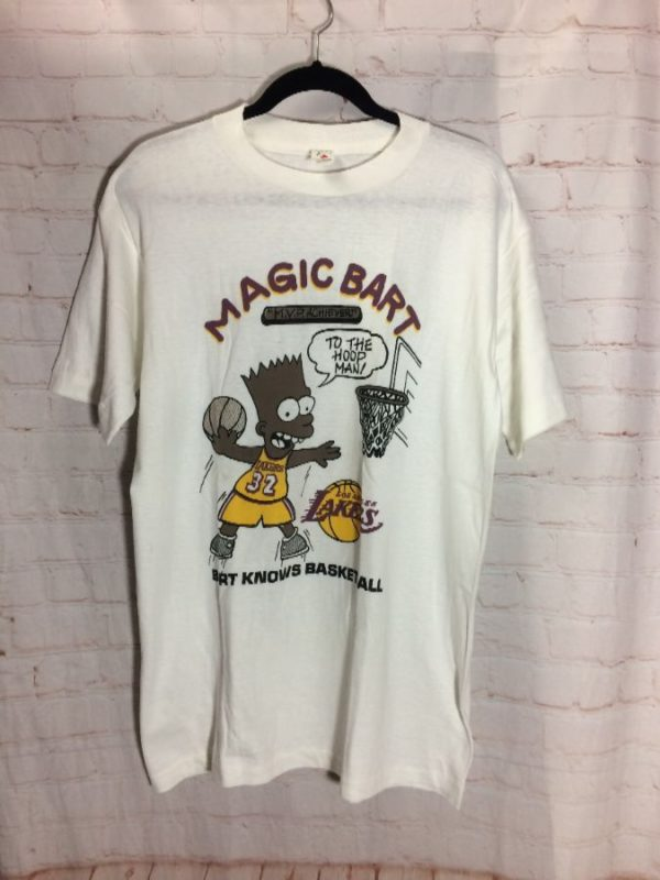 MAGIC BART BOOTLEG MAGIC JOHNSON X BART SIMPSON T-SHIRT
