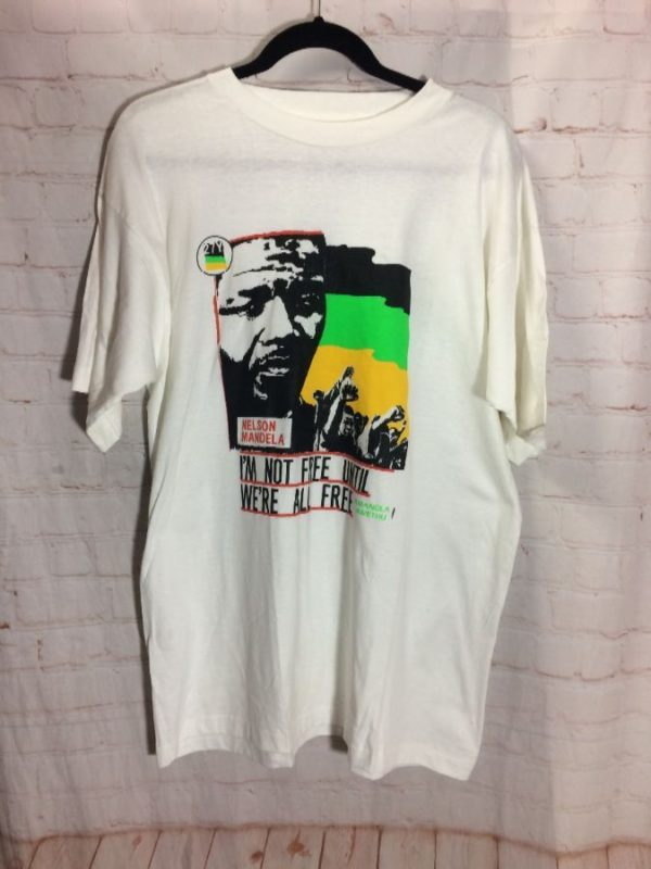 NELSON MANDELA FREEDOM BOOTLEG T-SHIRT