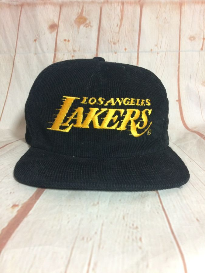 LOS ANGELES LAKERS W  SNAP BACK CORDUROY HAT » Boardwalk Vintage a6a2a1a6b42a