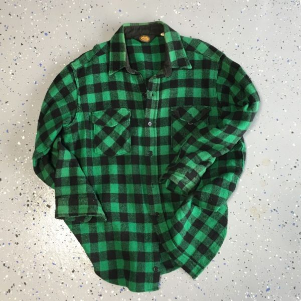product details: CLASSIC WOOLRICH BUFFALO CHECK PATTERN FLANNEL SHIRT 100% WOOL photo