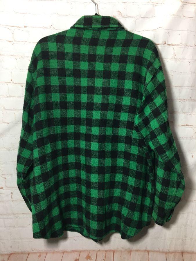 Classic Woolrich Buffalo Check Pattern Flannel Shirt 100