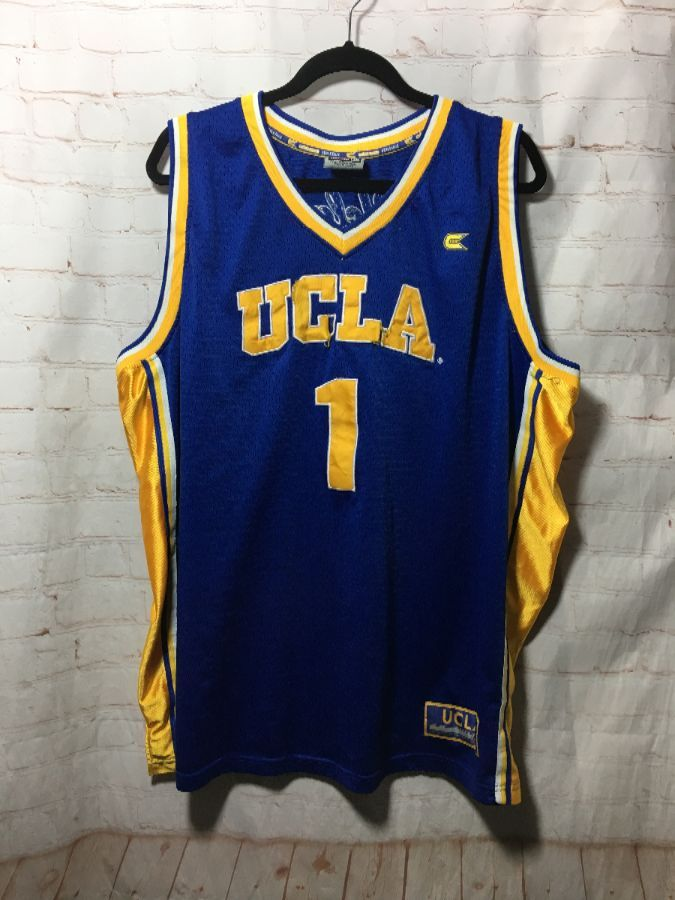 pretty nice 73079 1e740 UCLA BASKETBALL JERSEY #1 W/ VERTICAL SIDE STRIPES