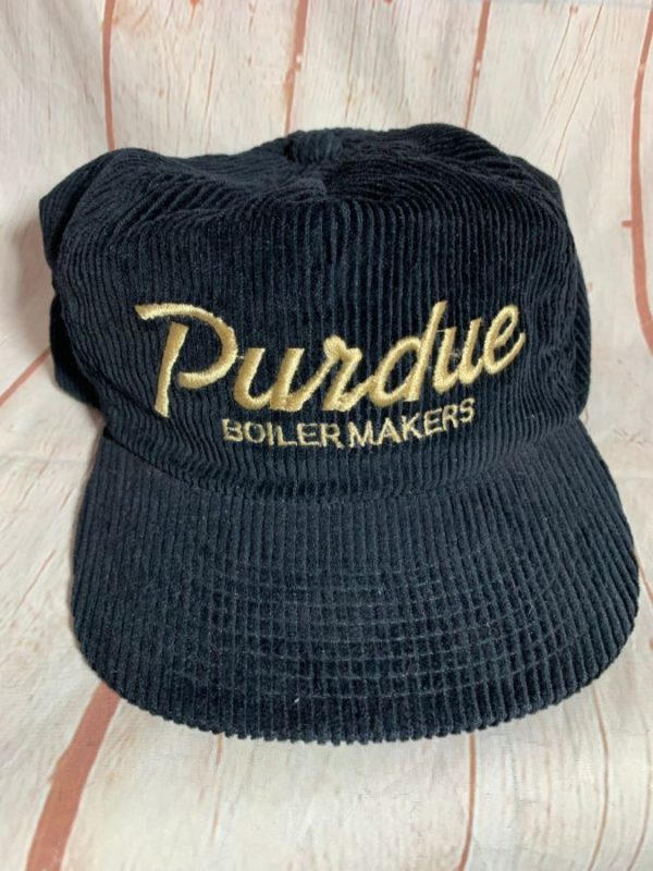 VINTAGE CORDUROY PURDUE BOILERMAKERS W/ ADJUSTABLE BACK CAP