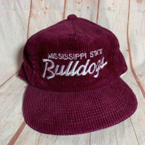 VINTAGE CORDUROY MISSISSIPPI STATE BULLDOGS W  ADJUSTABLE BACK HAT 9090d32d0aa8