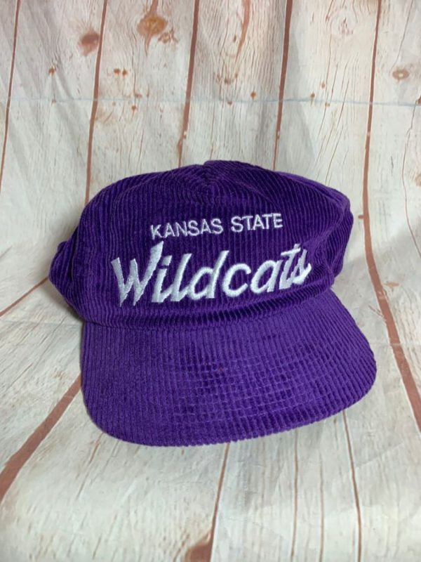product details: VINTAGE CORDUROY HAT KANSAS STATE WILDCATS ADJUSTABLE CAP photo