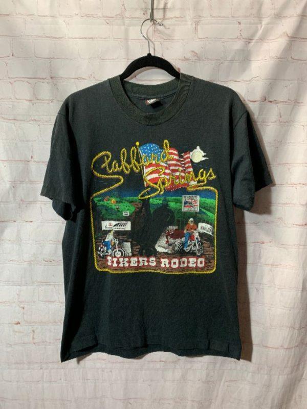 T-SHIRT GREAT AMERICAN 1989 STAFFORD SPRINGS BIKERS RIDE & RODEO