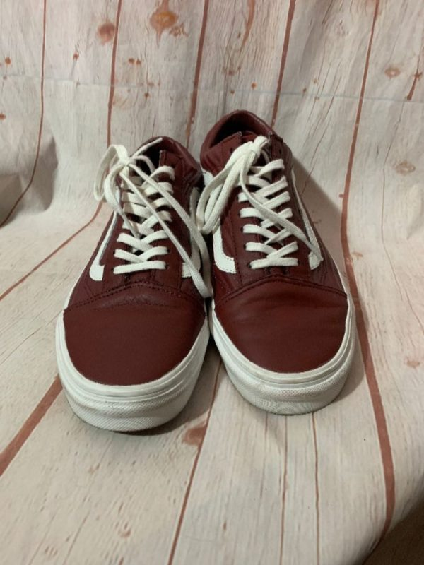 product details: LEATHER W/ RIDGE SIDE PATTERN VAN'S LOW TOP SHOES photo