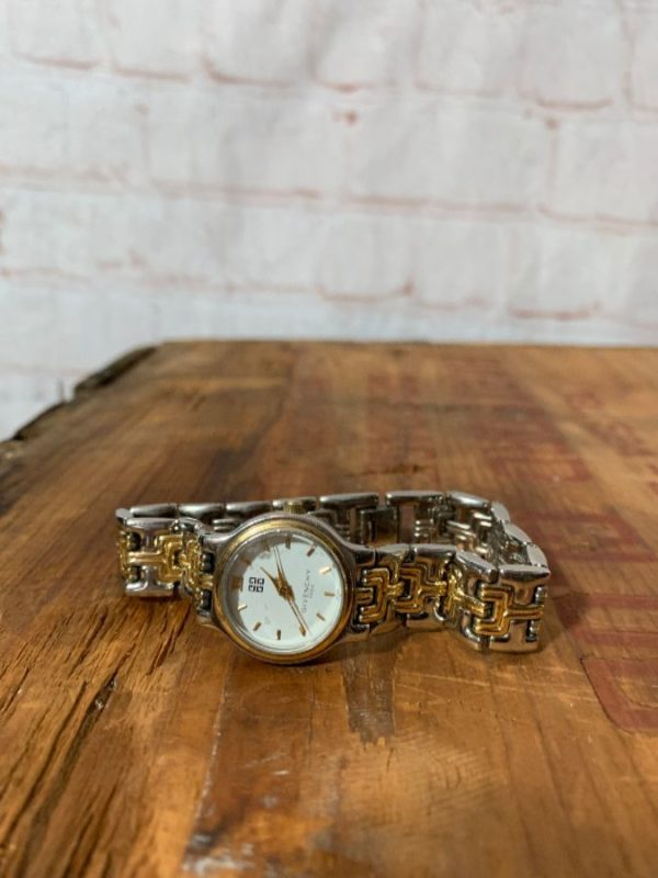 GIVENCHY PARIS 2 TONED DECORATIVE LINK WATCH