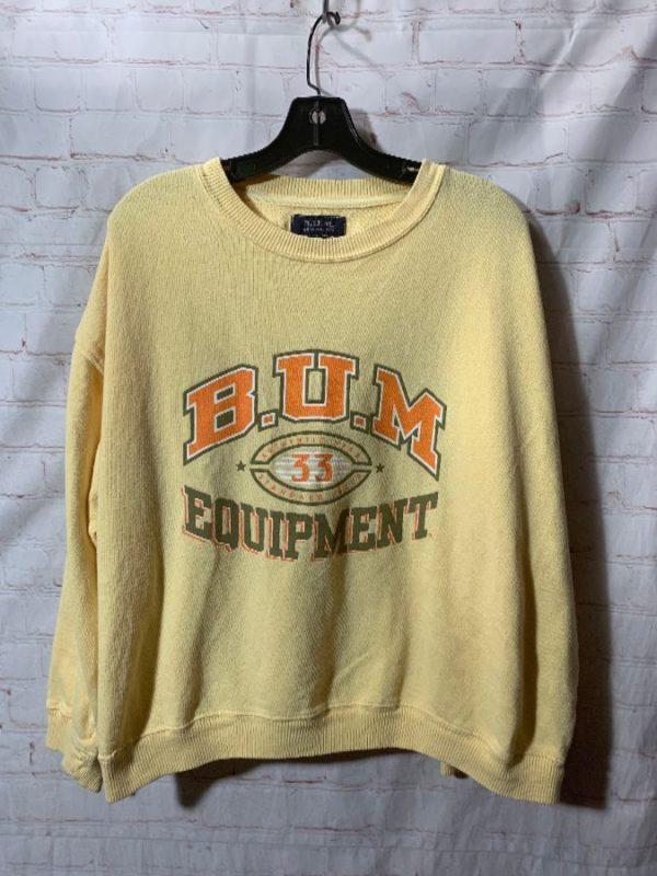 1980'S B.U.M EQUIPMENT PULLOVER CREW-NECK SWEATSHIRT