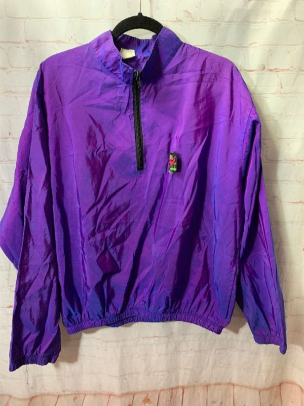 SURF STYLE IRIDESCENT COLORED PULLOVER WINDBREAKER JACKET
