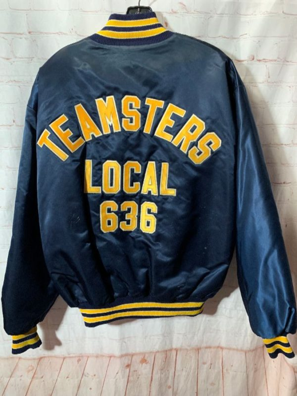 product details: TEAMSTERS LOCAL 636 LOGO SATIN BUTTON-UP JACKET photo
