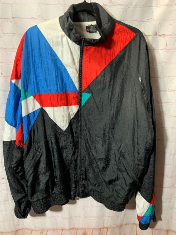 product details: 1990'S COLOR-BLOCK DESIGN WINDBREAKER FULLY LINED W/ AIR JORDAN TOP3 COLORWAY photo
