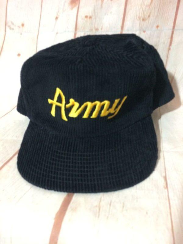 VINTAGE CORDUROY ARMY CAP W/ ADJUSTABLE BACK